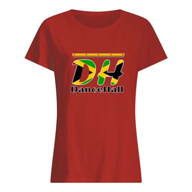 Collection de vtements et accessoires dh dancehall women s t shirt rouge front 1