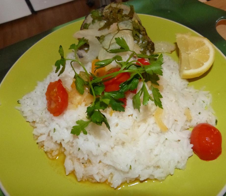 Riz et Darne de poisson